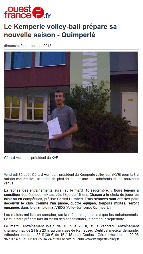 Ouest-France 2013-09-01